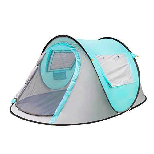 EP-Tent Outdoor Camping Zelt, Vollautomatisches Doppeltüren, Throw Away, Falten, Outdoor Camping, Sunshade, Strand, Multi-Window Zelt, Geeignet Für 34  Herrenchen, 97