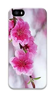 A Branch Of Pink Flowers PC Case Cover for iPhone 5 and iPhone 5s 3D