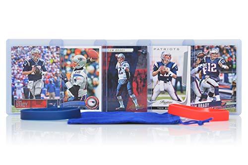 (Tom Brady Football Cards Assorted (5) Bundle - New England Patriots Trading Cards)