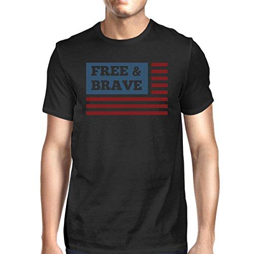 Us hombre para Printing Camiseta Free Brave One corta de Size Flag manga 365 xwHYZqPZ
