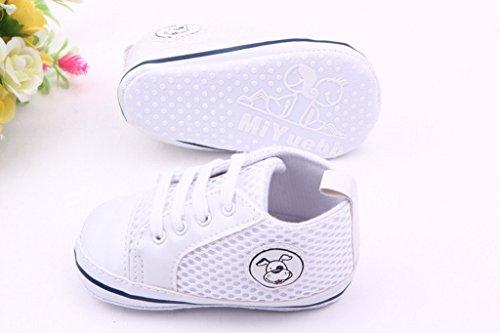 EOZY Zapatos Para Bebé Unisex Primero Paso Andar Mallas Violeta Cordones Otoño Pirmavera Longitud 13cm Blanco Cordones Otoño Pirmavera
