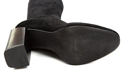 Jeffrey Campbell Damen Stiefel Overknees Perouze Gr. 37 Schwarz 37