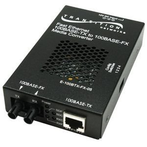 Transition - Media converter - 100Base-FX, 100Base-TX - RJ-45 - SC multi-mode - external - up to 1.2 miles - 1300 nm FETH 100BTX TO 100BFX SC MMF SA CONVRT 2KM Manufacturer Part Number E-100BTX-FX-05(SC)NA by Transition Networks (Image #1)