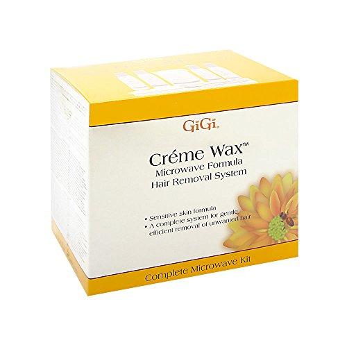 GiGi Creme Wax Microwave Formula Hair Removal System Complete Microwave Kit 35 Piece Kit - Formula Hair Removal System Wax