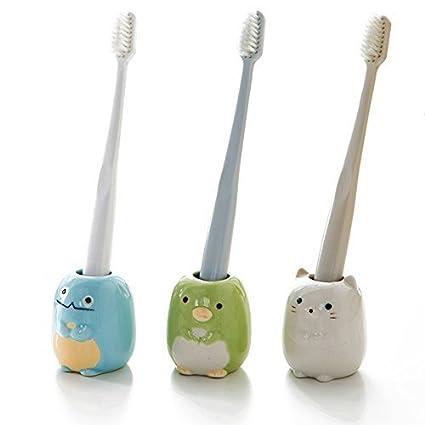 SummerPlus 3 Mini soporte para cepillos de dientes, soporte de cerámica para cepillos de dientes