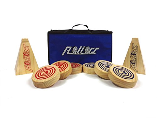 Rollors Backyard Game for Kids, Groups of All Ages & Families - The #1 Lawn Game for Summertime Fun, Tailgating, Camping, Outdoor Parties, BBQs, Picnics, Beach Days & more! – All-In-One Wooden Yard Activity Game Combining Horseshoes, Bocce Ball & Bowlin by Rollors