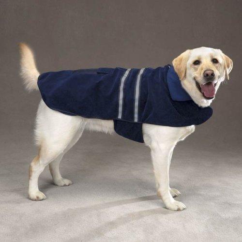 Dog Coat - Blue Fleece Reflective Safety Jacket for Dogs - X Large