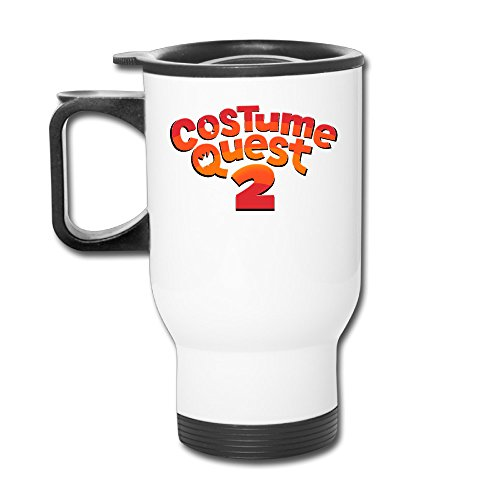 [Costume Quest 2 Logo 14oz Stainless Steel Vacuum Insulated Mug White] (Xbox Costume Quest)