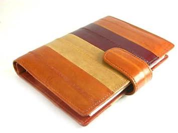 Amazon.com : EEL Skin Leather Day Planner Organizer Agenda ...