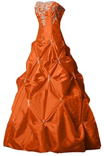 del abito elegante vestito da a lungo da sera Satin quinceañera line ballo Sweetheart Arancione Sunvary nvC0awxZqZ