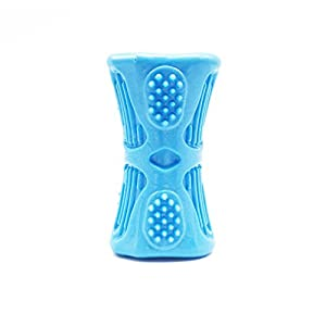 """SatisPet Large Dog Chew Toy With Squeaker, Blue - 4.3"""" Toy Stick with Features Loud Squeaker Ideal For Medium & Large Dog Breeds"""