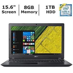 Acer Aspire 3 15.6″ HD widescreen LED-backlit display Laptop (2018 Newest), Intel Core i5-7200U Processor 2.5GHz, 8GB RAM, 1TB HDD, 802.11ac, Bluetooth, HDMI, Webcam, Windows 10