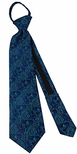 Missionaries on Bikes Aqua Blue Boys Zipper Tie fits children ages 4-9 years old by Johnson Brothers