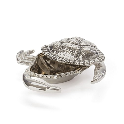 Christmas Tablescape Decor - Silver crab shaped crab butter dish - Set of 2 by Go Home