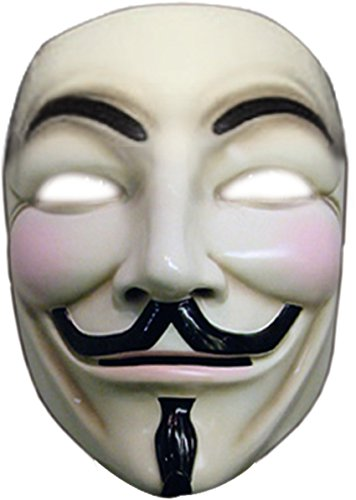 Price comparison product image V For Vendetta Collector's Edition Mask Costume,One Size