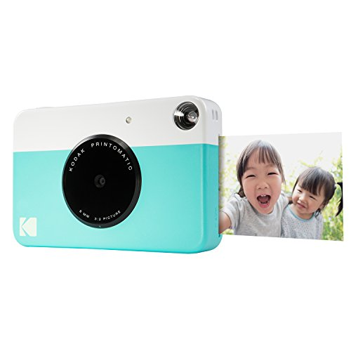 "Kodak PRINTOMATIC Digital Instant Print Camera (Blue), Full Color Prints On ZINK 2x3"" Sticky-Backed Photo Paper - Print Memories Instantly from Kodak"