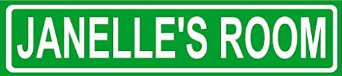 JANELLE ROOM Green Aluminum Street sign 4