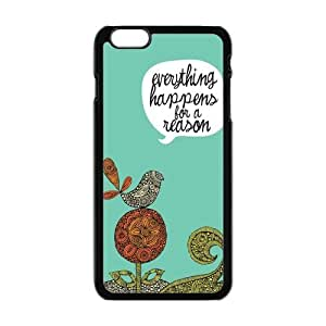 "Danny Store Hardshell Cell Phone Cover Case for New iPhone 6 Plus (5.5""), Everything Happens for a Reason"