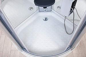 Cabina de ducha de hidromasaje White Eden 95 x 95 cm con sauna ...