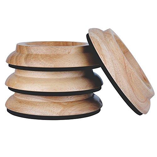 (4Pcs Piano Pad Piano Caster Cups Feet Pad Floor Carpet Protector Wood)