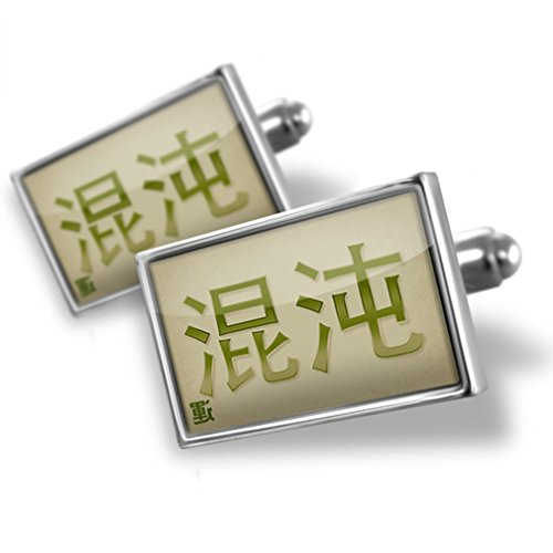 Cufflinks Chaos Chinese characters, green letter - (Chaos Cufflinks)