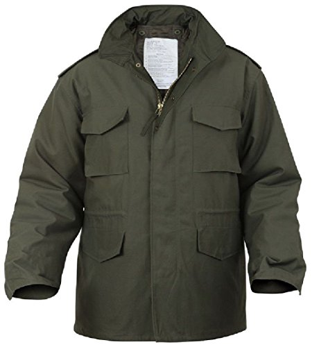Bellawjace Clothing Olive Drab OD Green Military M-65 Field Jacket Coat With (Olive Drab M-65 Field Jacket)