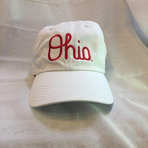 J. America Ohio State Buckeye White Script Ohio Ball Cap ()