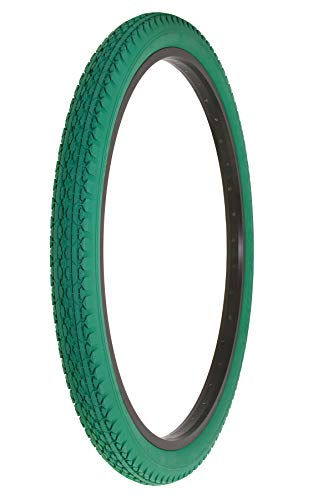 Alta Bicycle Tire Duro 26 x 2.125 Bike Thread Diamond Drizzle Style (Green) (Tires Colored Bike)