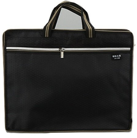 Zipper Business Document Bag | Men Messenger Work Briefcase With Waterproof Fabric & Multi Purpose Usage For Storing Files Folder Document Notebooks Stationery Items For Meeting Office & Home