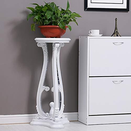WANGXIAOLIN Porte-fleurs en bois imitation bois pot pot pot rack blanc vert magasin de fleurs fournitures salon étagère à fleurs 724355