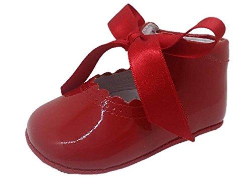 Caminito AA0085 - Zapatos bebe niña piel charol rojo