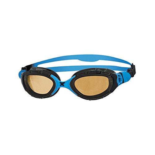 - Zoggs Predator Flex Ultra Polarized 2.0 Swimming Goggles No Leaking Anti Fog UV Protection Triathlon Black-Blue/Bronze