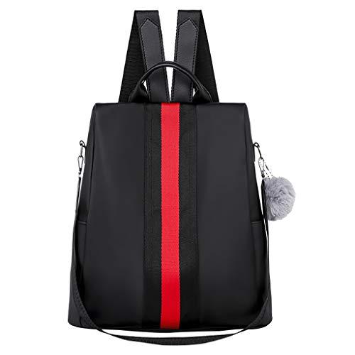 SUNyongsh Fashion Women Oxford Waterproof Backpack Anti-Theft Large Capacity Stripe Bags