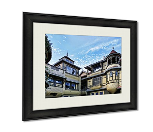 Ashley Framed Prints, The Winchester Mystery House, Wall Art Decor Giclee Photo Print In Black Wood Frame, Ready to hang, 20x25 Art, AG6534472