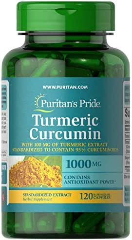 Puritans Pride Turmeric Curcumin with Bioperine, 1000mg, 120 Count