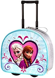 Amazon.com: Disney Store Frozen Elsa/Anna Rolling Luggage: Sports ...