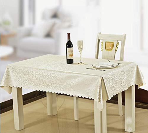 -1 130  180CM MJK Nappes, housse de table rectangulaire, nappe en tissu imperméable à l'eau et anti-éclaboussures, toile de table basse de couleur unie, -1,130  180CM