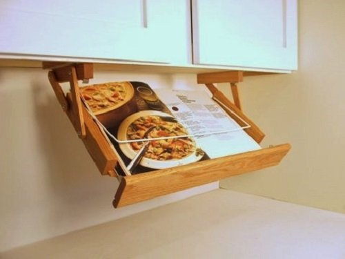 Under Cabinet Mounted Cookbook Holder by Ultimate Kitchen Storage