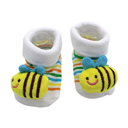 Cute Baby Rattle Socks Bumblebee 3-12 Months w/Gift Box