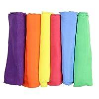 "Camden Rose Vibrant Rainbow Play Silks, 21"" Square, Set of 6"