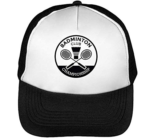 Snapback Badge Sport Badminton Negro Club Hombre Gorras Beisbol Blanco gqnXwTxpn