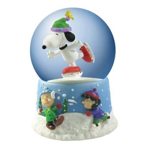 Peanuts Musical Revolving Ice Skating Snoopy Waterglobe