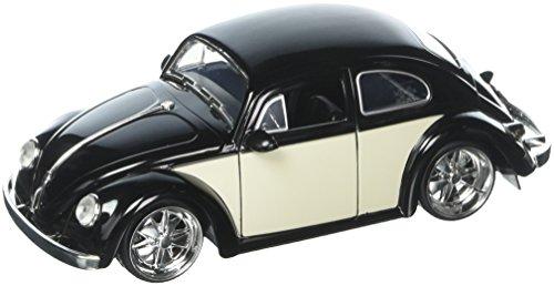 Kustom Metal - JADA 1:24 W/B Metals Bigtime Kustoms 1959 Volkswagen Beetle 2-Tone Black Die Cast Car