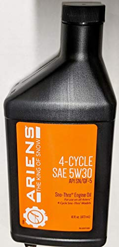 Ariens 00091000 4 Cycle SAE 5W30 Sno Thro Oil 16oz by Ariens