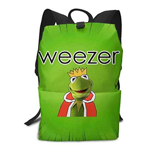 PSnsnX Weezer Band Rock Kids' Lightweight Travel Backpacks School Book Bag White