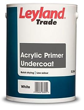 Leyland Trade 264365 Acrylic Primer Undercoat, White, 2.5 PPG