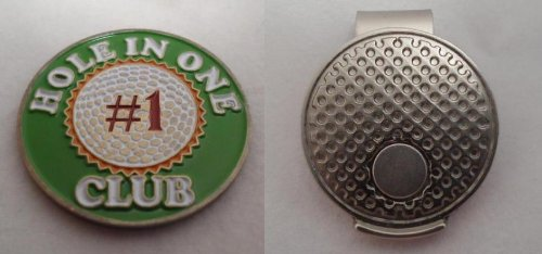 Hole In One Club Ball Marker with Silver Hat Clip