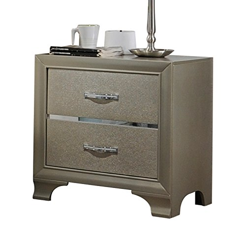 ACME Furniture 26243 Carine Nightstand, Champagne (Furniture Champagne)