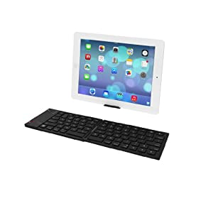 RedCup A0001 Foldable, Rechargeable, Portable Bluetooth Keyboard for IPhone, IPad, IMac and MacBook Air Pro