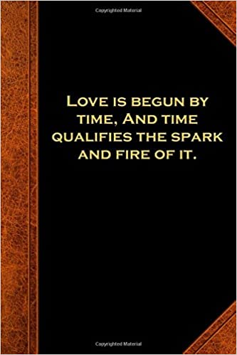 Amazoncom Shakespeare Quote Journal Love Time Spark Fire